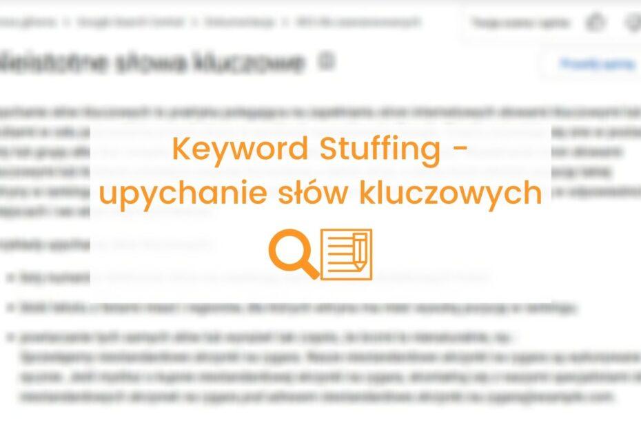 co to jest keyword stuffing