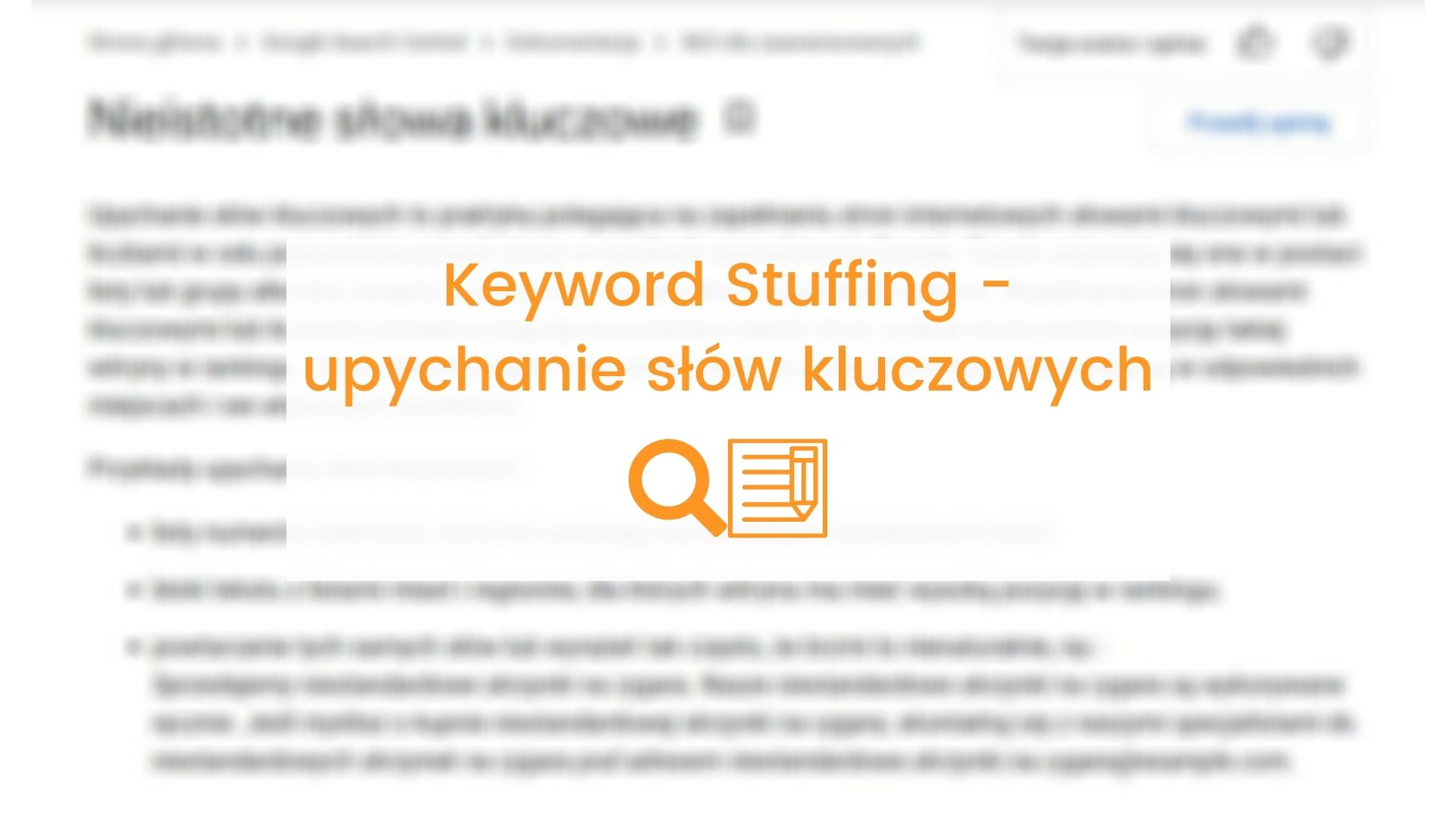 Keyword Stuffing – upychanie slow kluczowych – glowna
